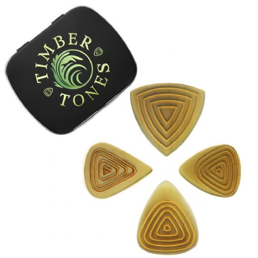 Flexi Tones Grip Mixed Tin of 4 Guitar Picks